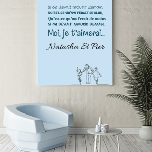 """tableau ou poster paroles de chanson de Natasha St Pier """"mourir demain"""""""