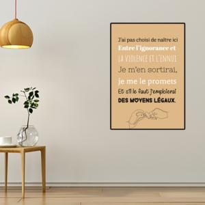 """tableau ou poster paroles de chanson Jean Jacques Goldman """"envole-moi"""""""