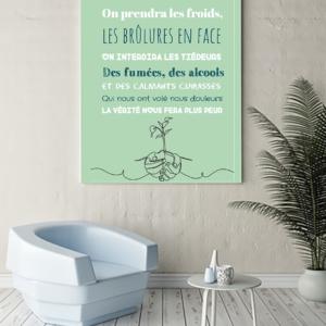"""Tableau ou poster paroles de chanson de Jean Jacques Goldman """"on ira"""""""