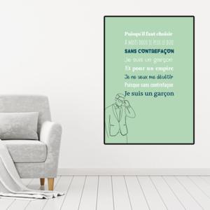 """tableau ou poster paroles de chanson Mylène Farmer """"sans contrefaçon"""""""