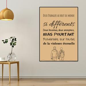 Tableau ou poster paroles de chanson de Renaud -Manhattan-Kaboul